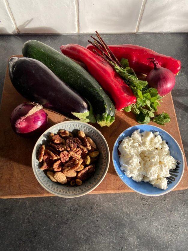 gegrilde groente met feta